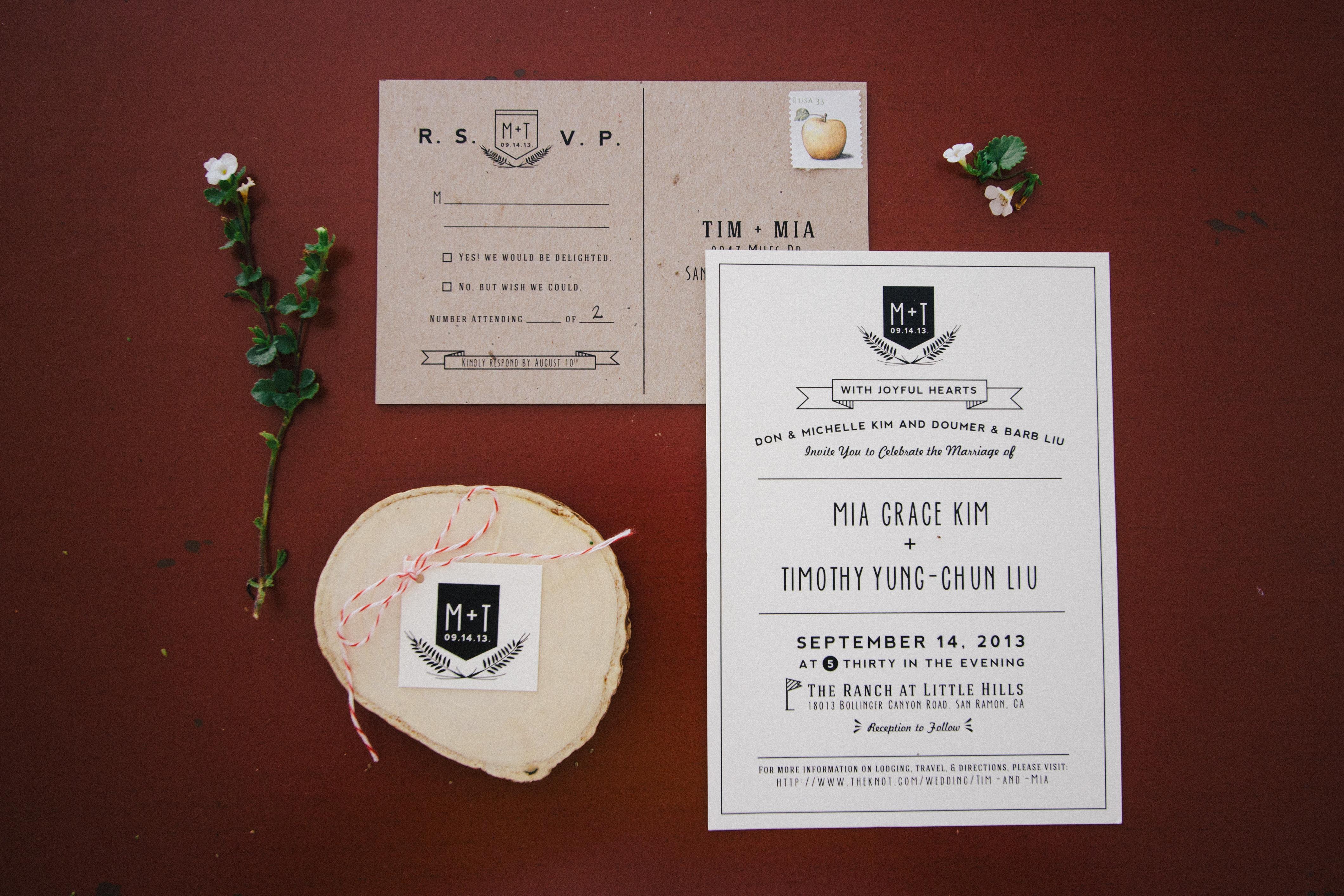 Mia + Tim Wedding Invitations! - Irenekly